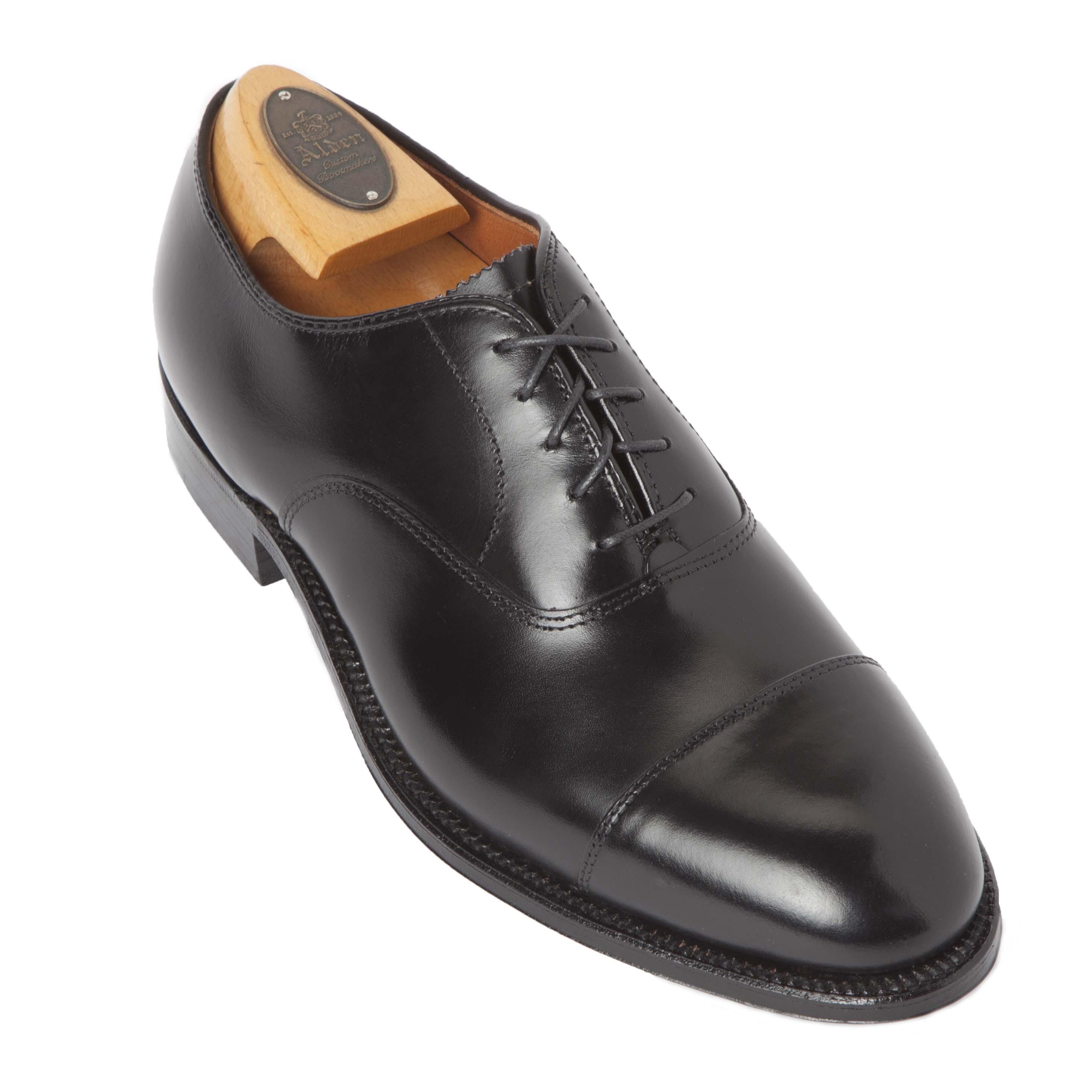 Straight tip balblack calfskin907 alden shoes madison for The alden