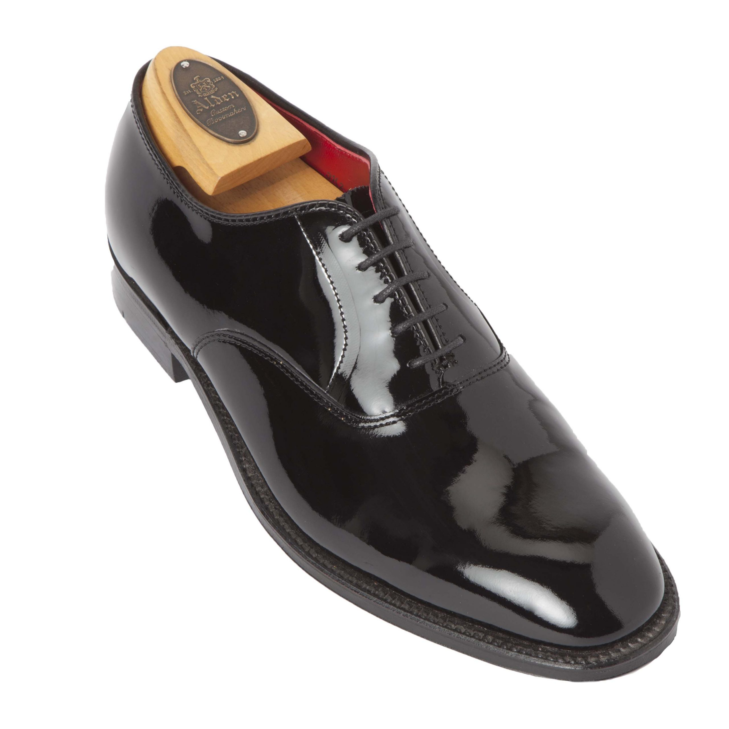 Patent Leather Plain Toe Black Patent