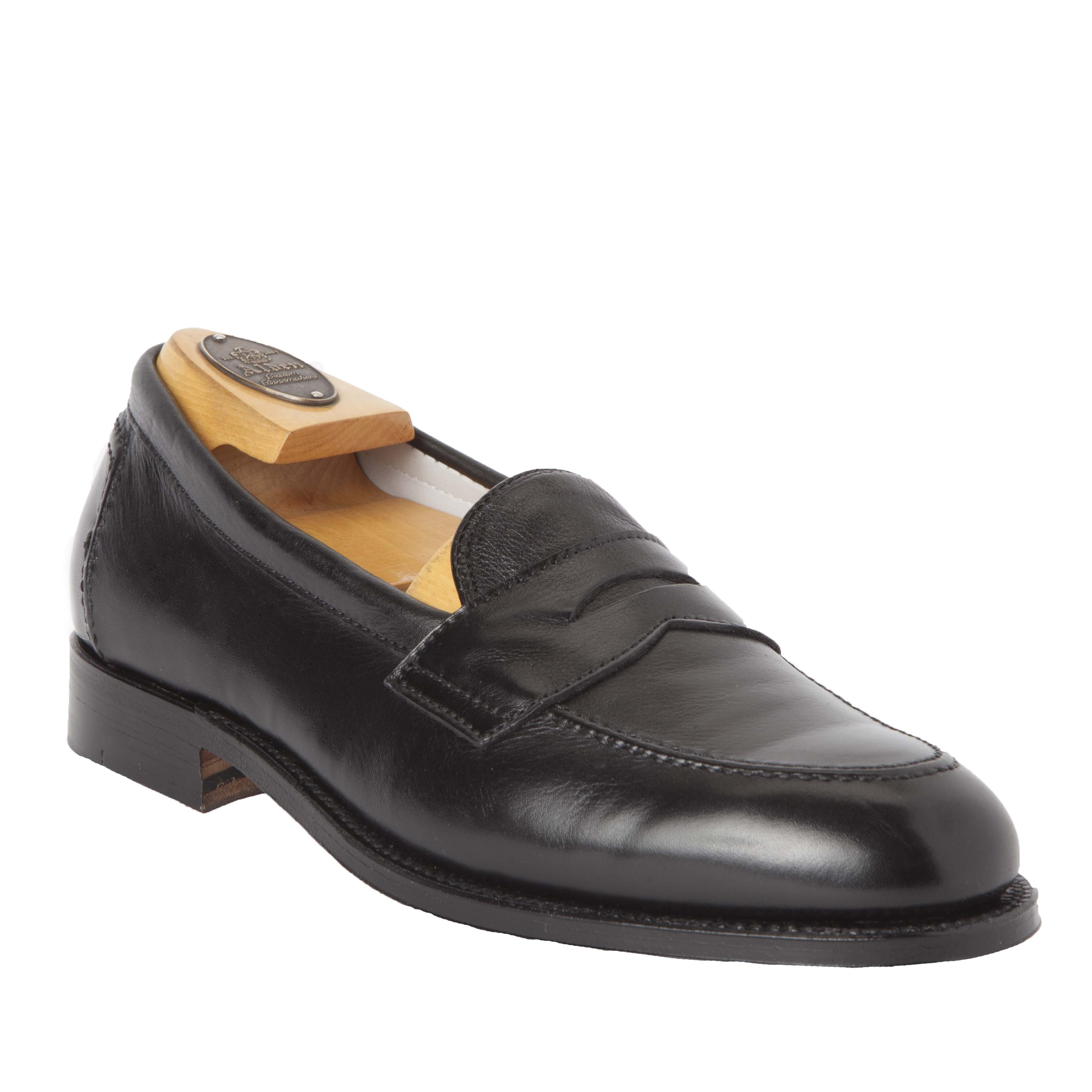 Flex Penny LoaferBlack Calfskin9695F – Alden Shoes Madison Avenue ... acfbaa81fd6
