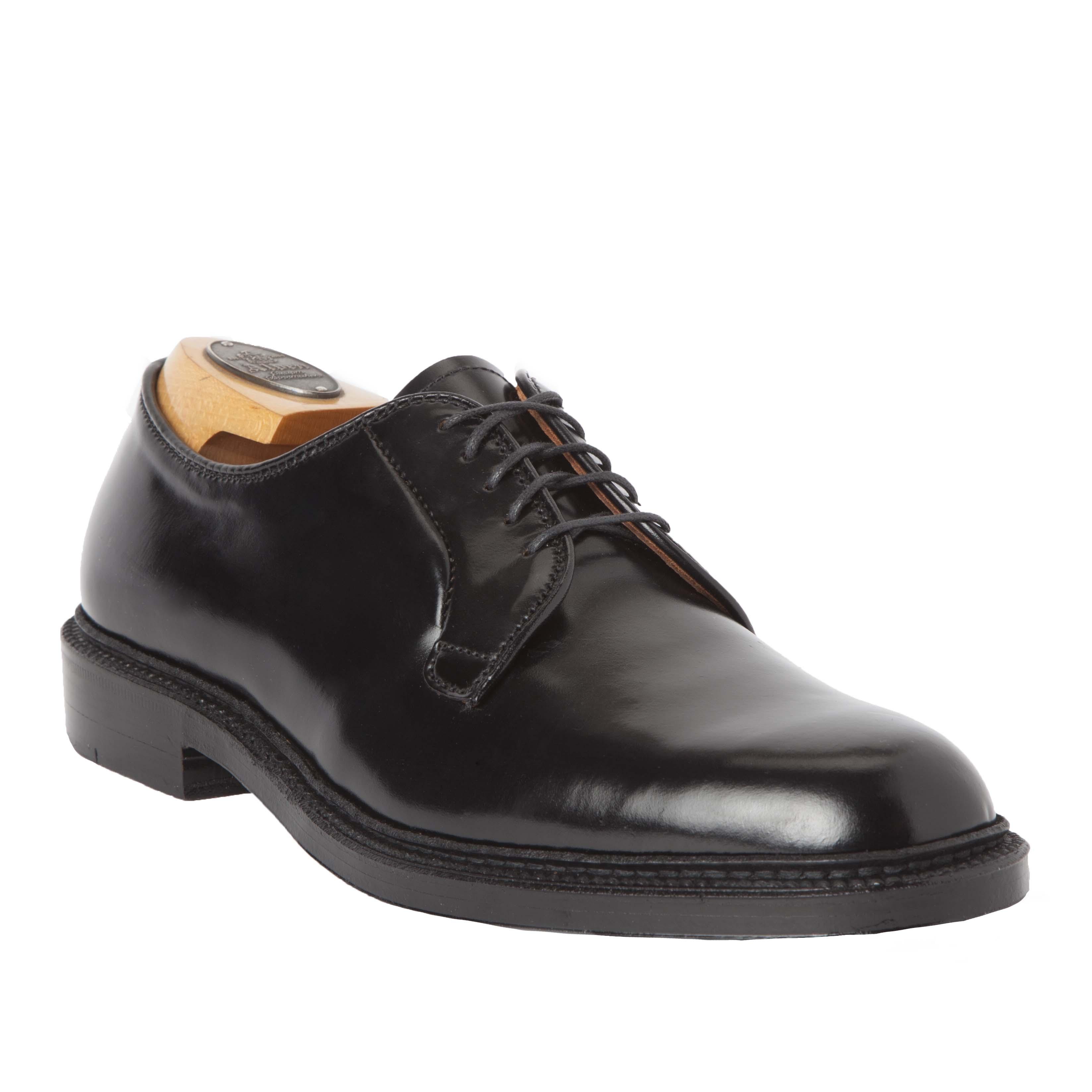 Plain toe blucherblack shell cordovan9901 alden shoes for The alden