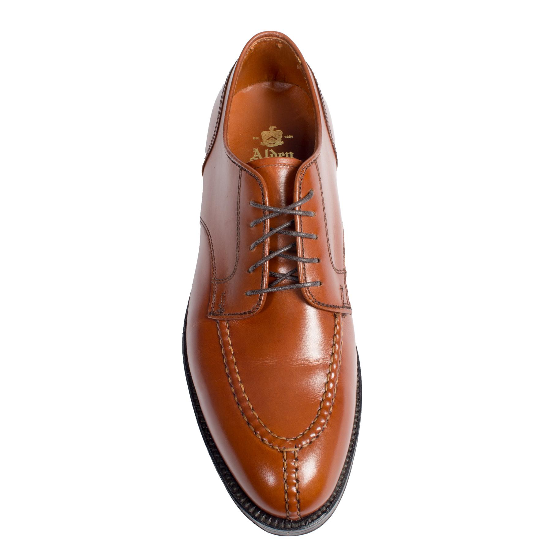 Norwegian Split Toeburnished Tan Calf962 Alden Shoes