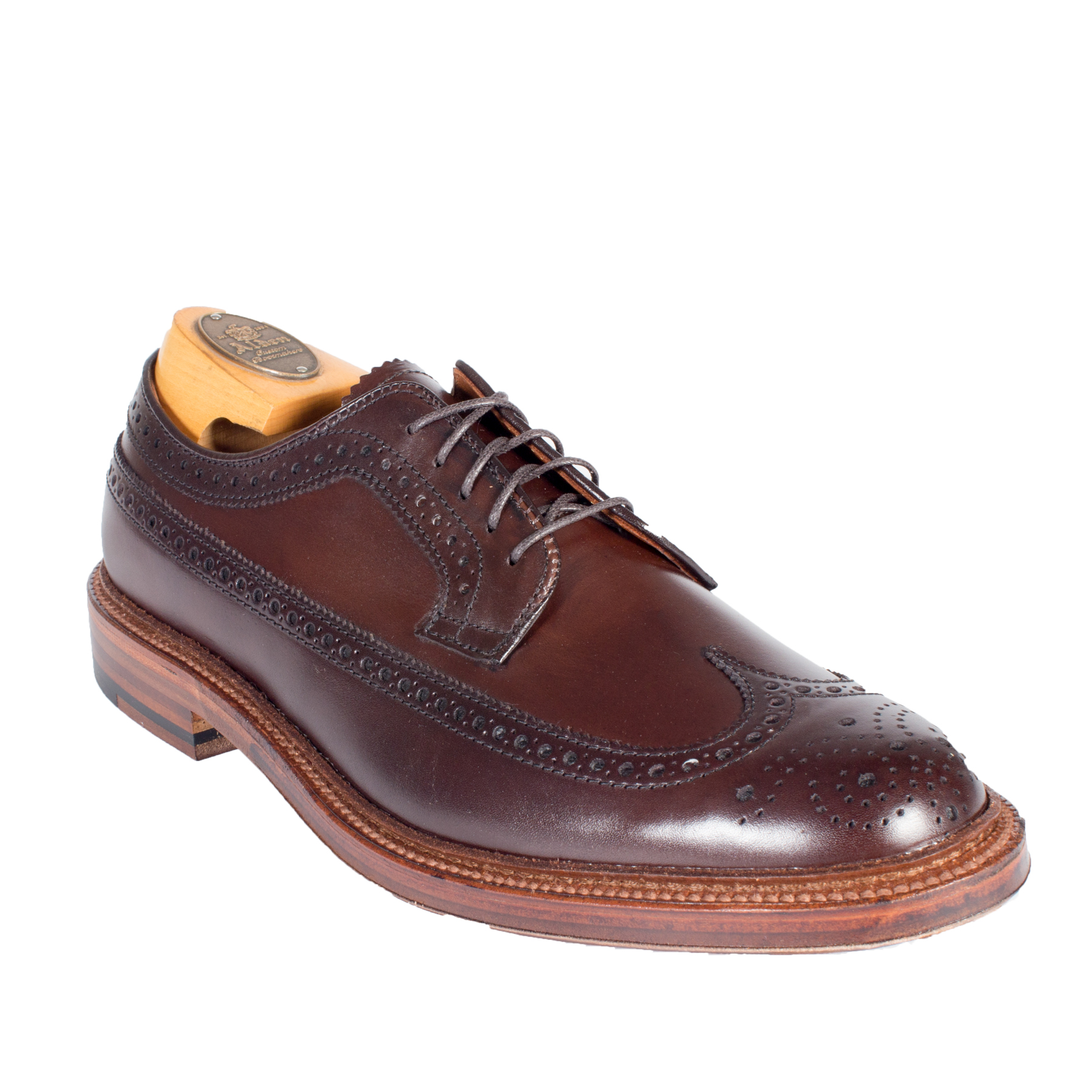 Plain toe blucher with commando solecolor 8 shell for The alden