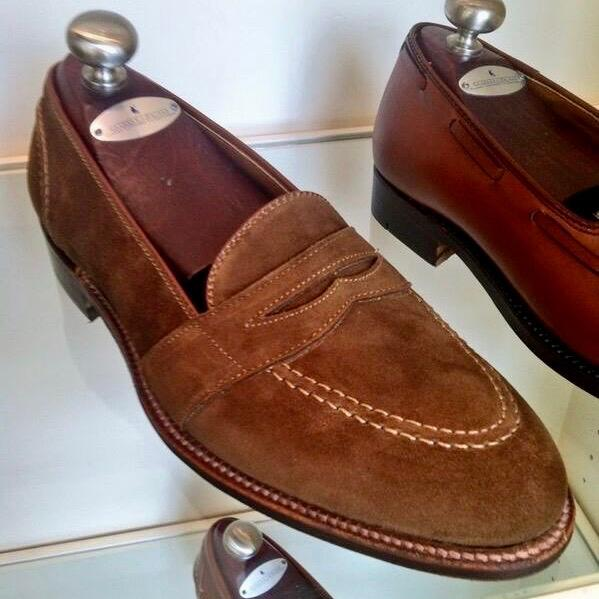 Full Strap<br>Snuff Suede<br>Brooks Bros heel foxing