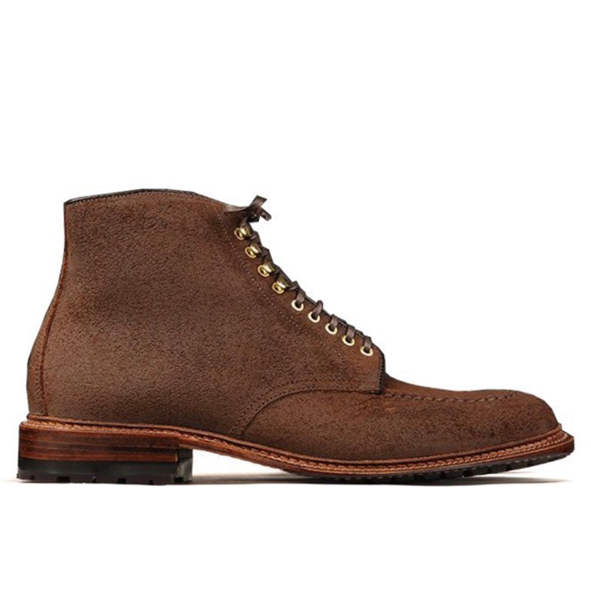 The Henrik Boot<br>Tobacco Reverse Chamois<br>U Tip Boot