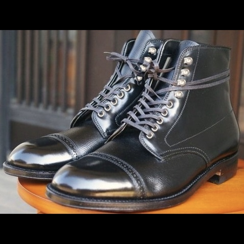 Hudson Boot<br>Black Shell & Black Alpine Grain<br>Cap Toe Boot