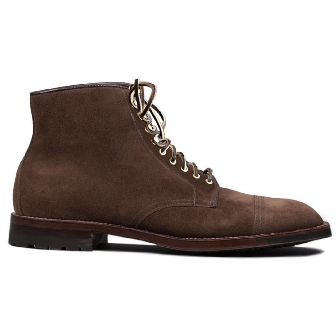 Archer Straight Tip Boot<br>Humus Suede<br>Crowd Fund