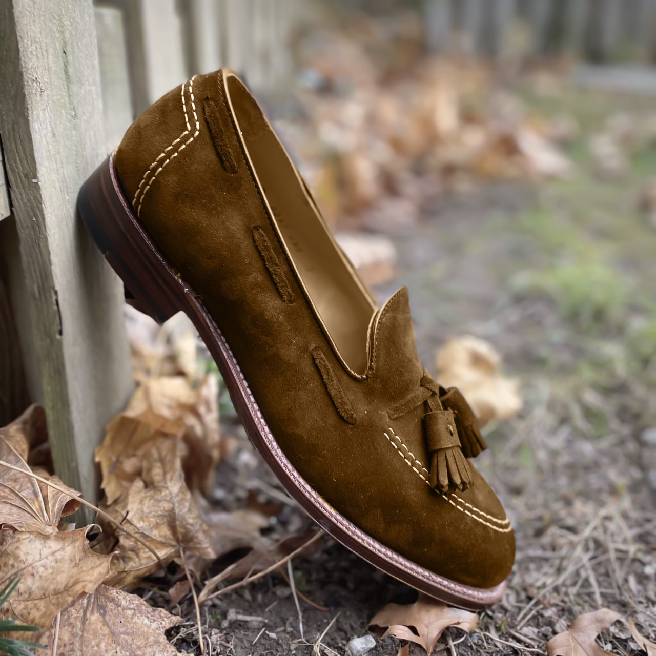 Unlined Tassel Loafer<br>Snuff Suede<br>FUNDED!!